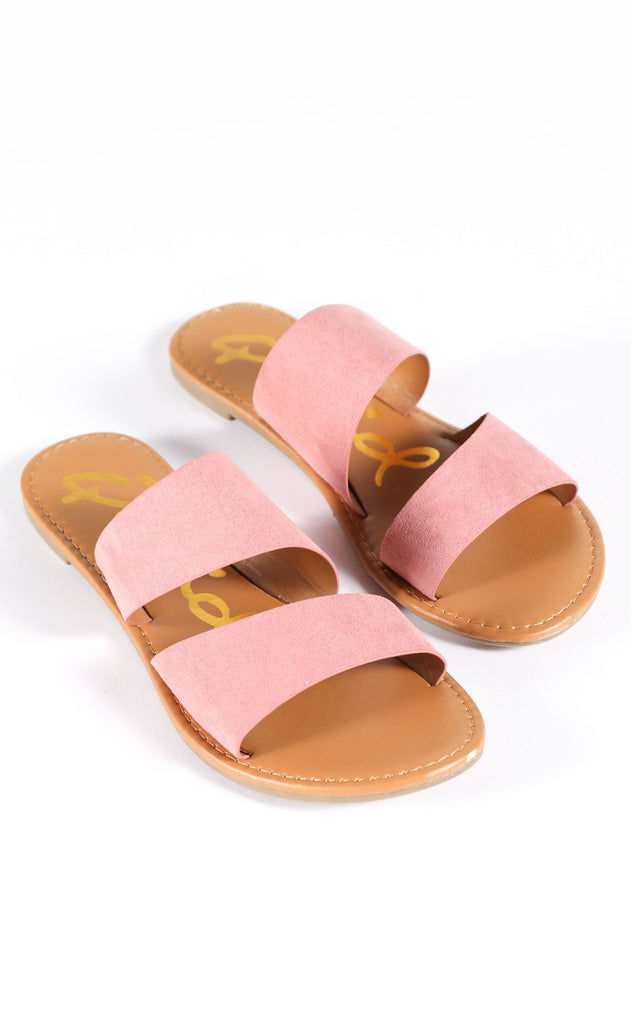 two strap sandal - blush