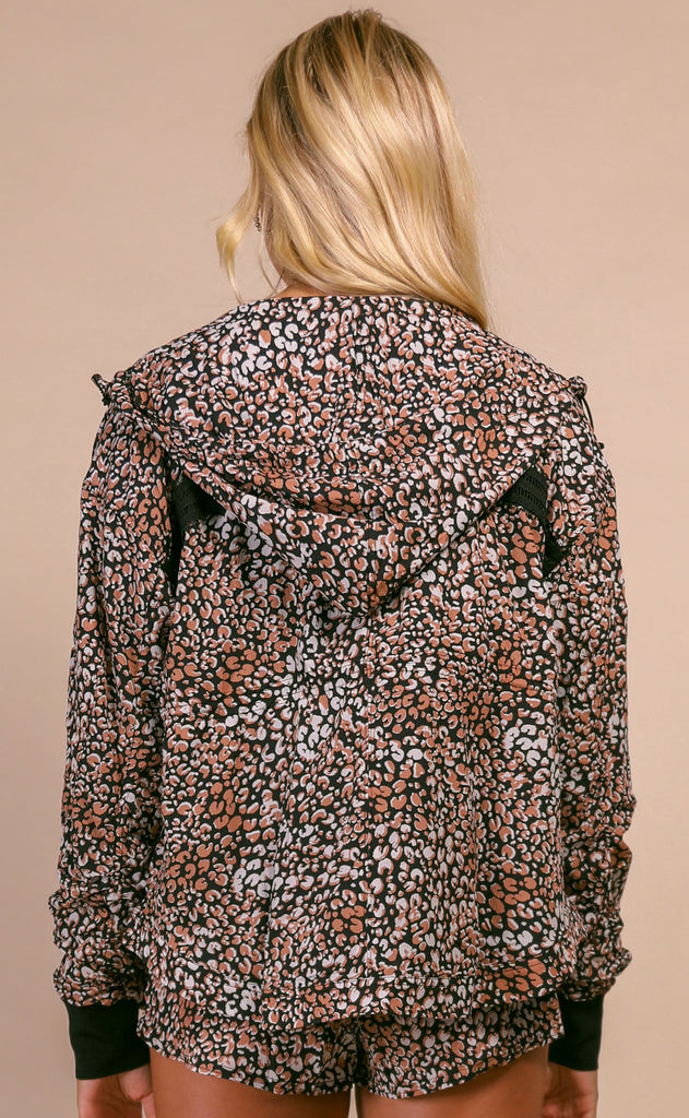free people movement: run wild jacket - leopard print