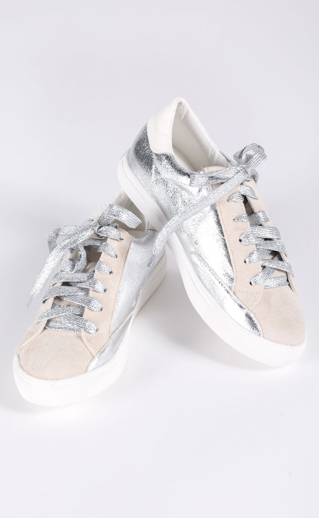 walk of fame sneaker - silver metallic