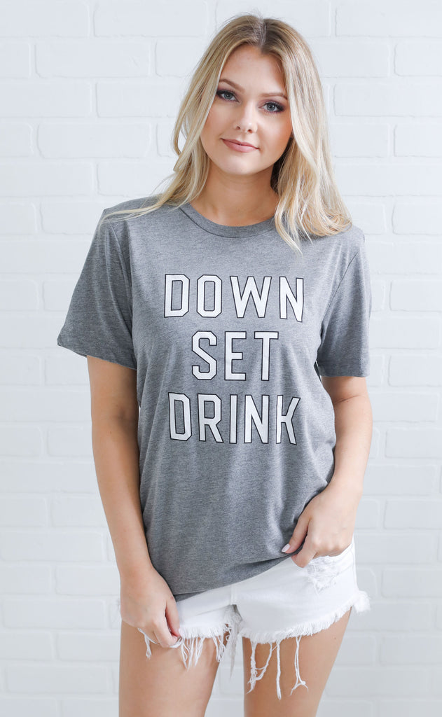 charlie southern: down set drink t shirt