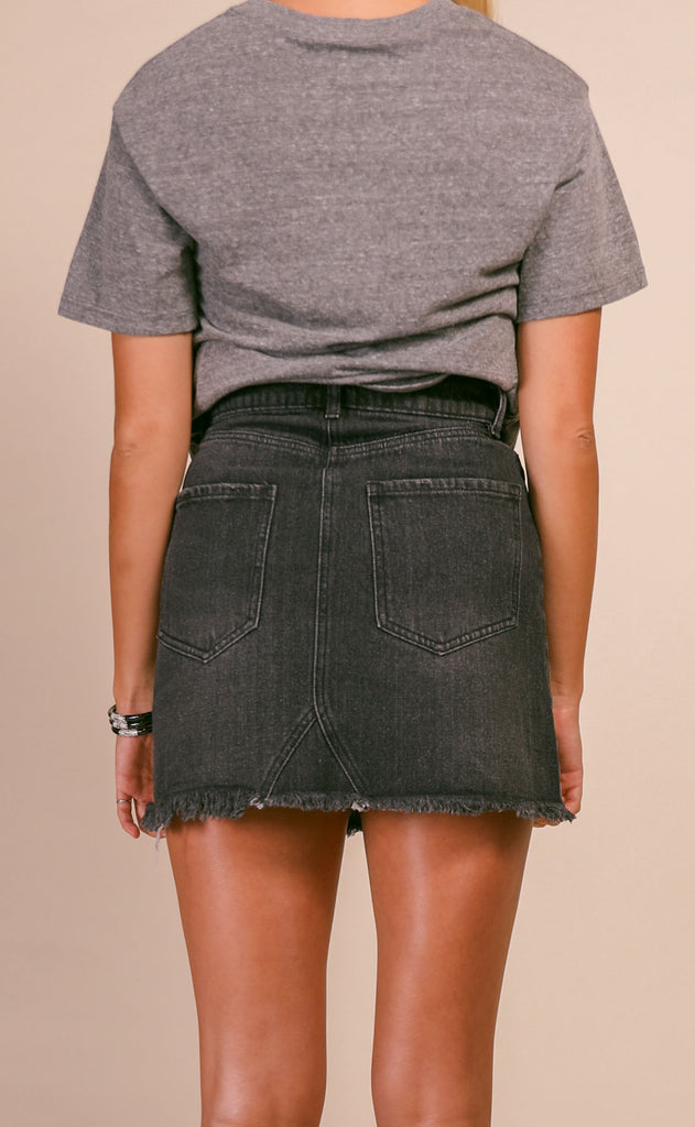 buddy love: sharon denim skirt - grey