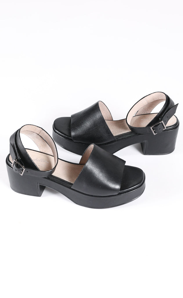seychelles: calming influence platform sandals - black