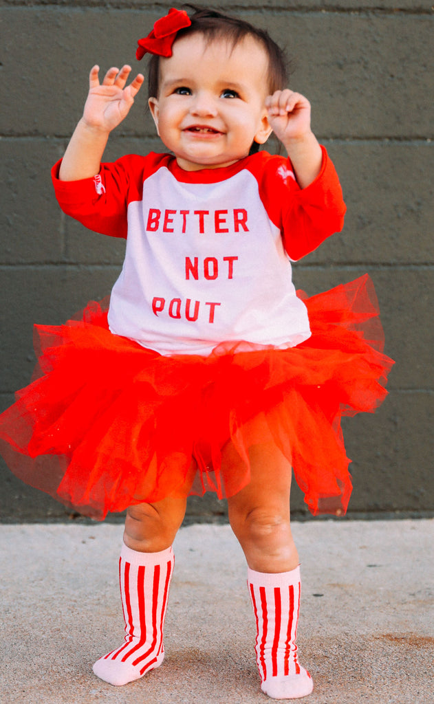 friday + saturday: better not pout toddler raglan