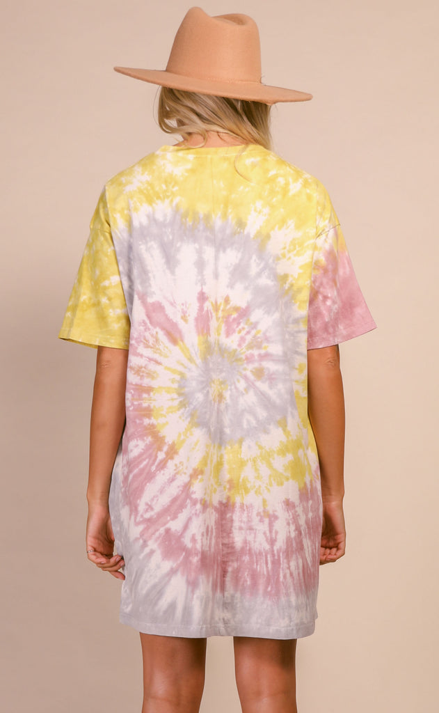 courtney tie dye oversized t-shirt dress