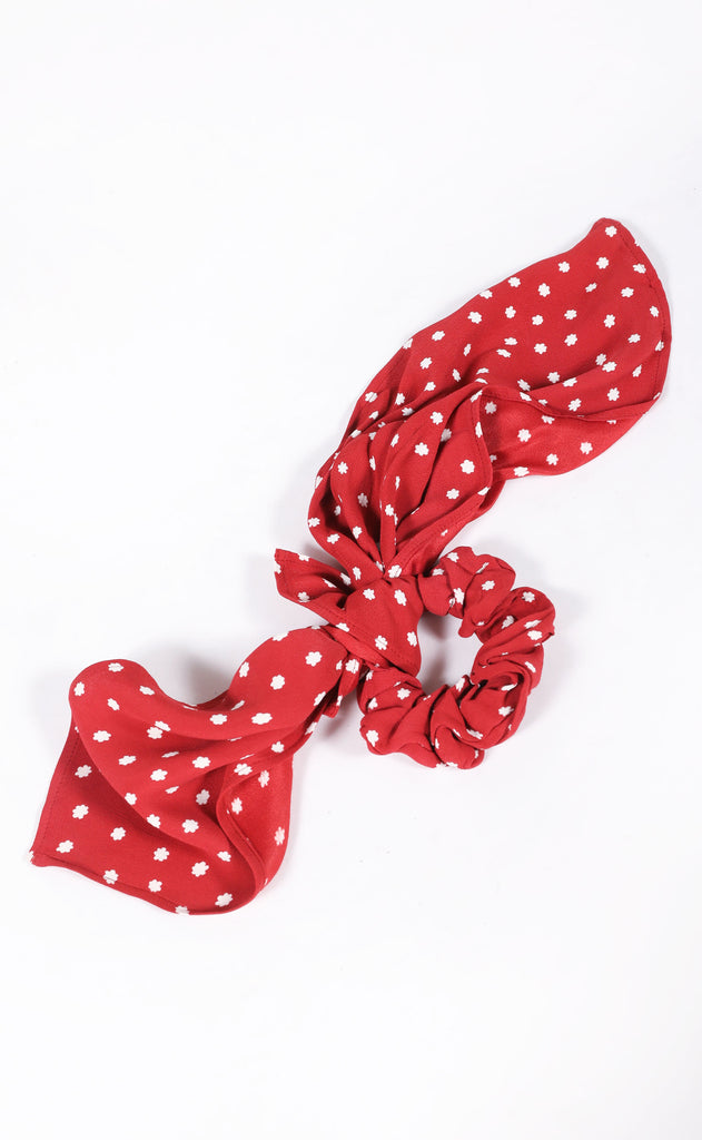amuse society: up and away scrunchie scarf - red