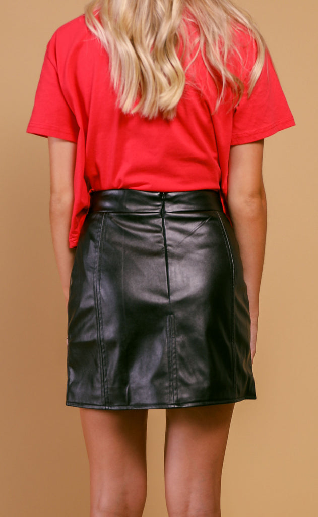 buddy love: ali skirt - black/white