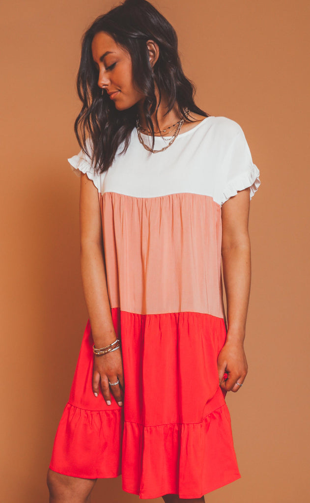 easy to love ruffle dress