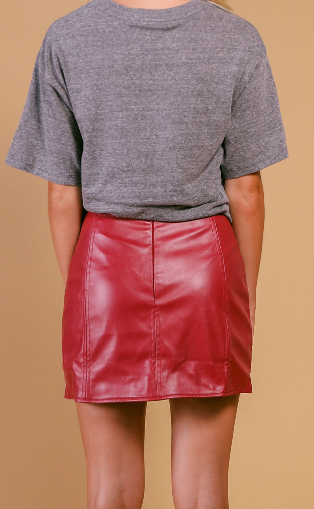 buddy love: carli skirt - burgundy