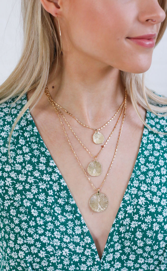 three's a party layered necklace