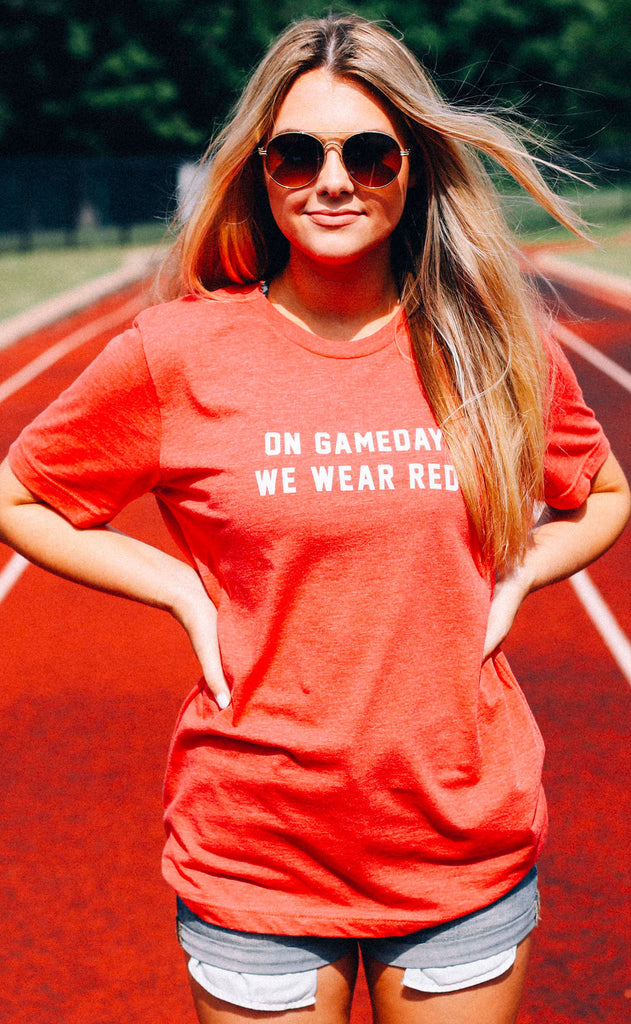 charlie southern: on gameday we wear red t shirt