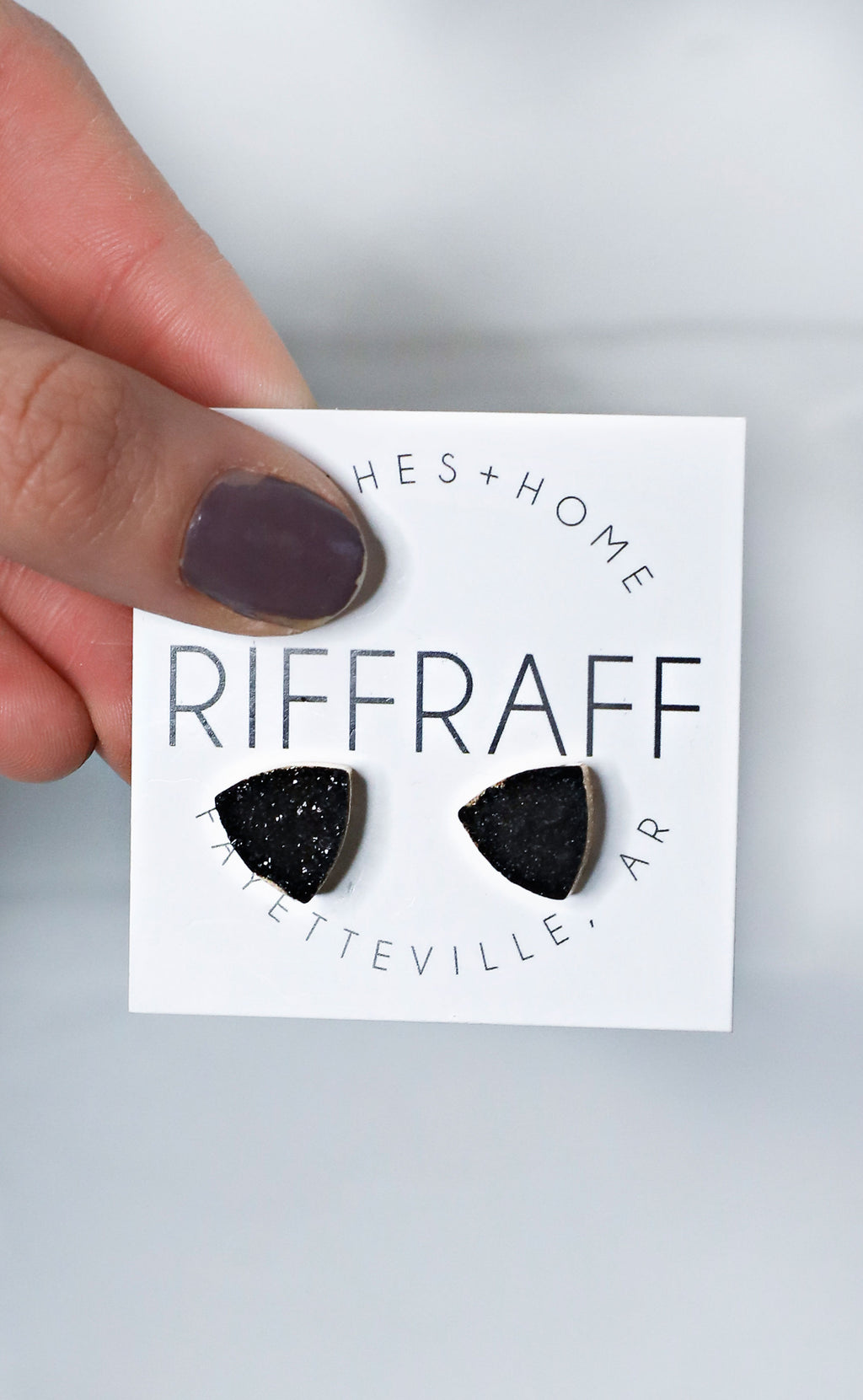 druzy days stud earring - black