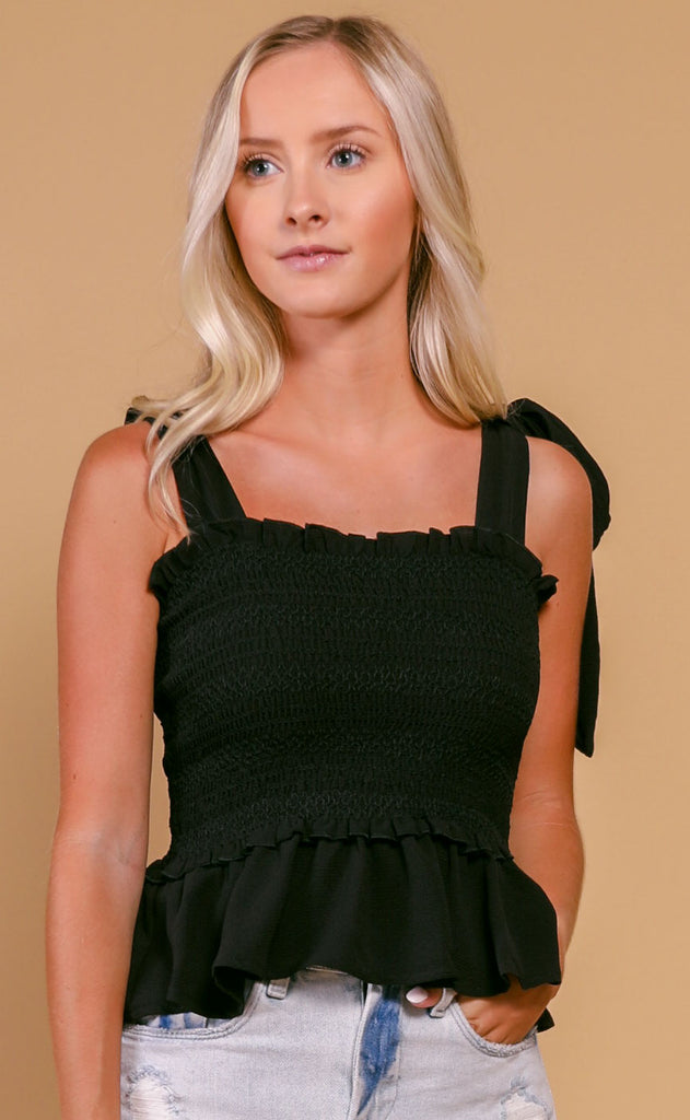 buddy love: candy top - black