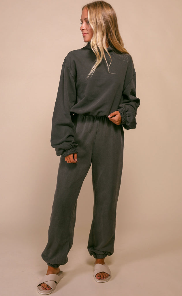 chilled out terry sweatshirt - charcoal