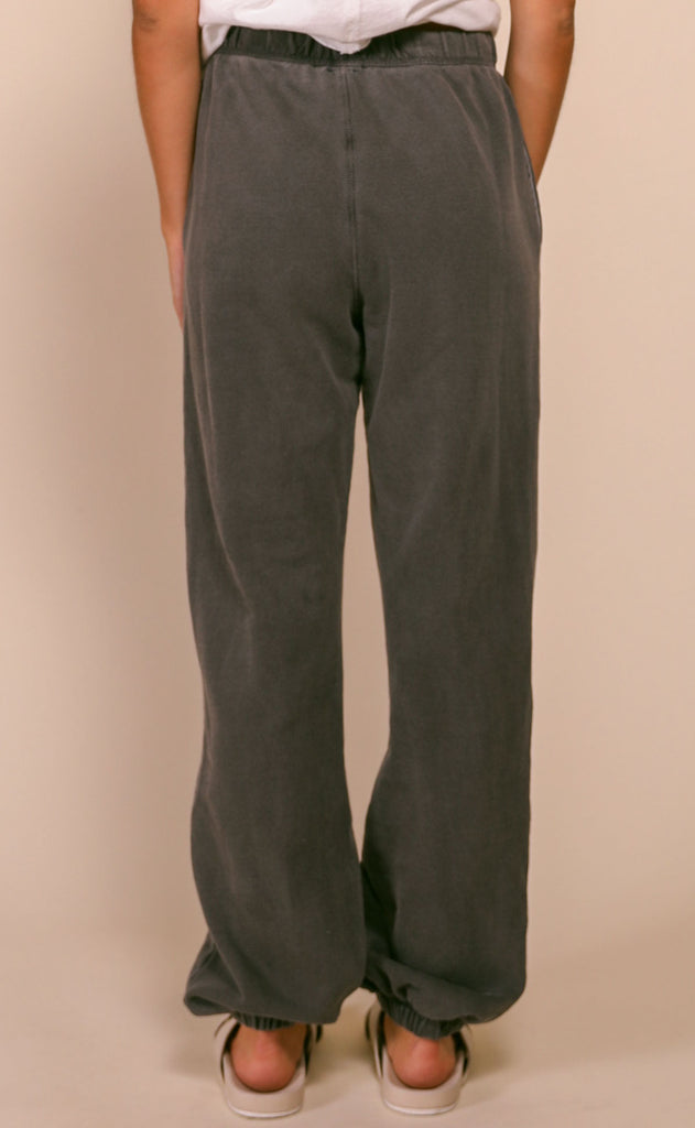 chilled out terry joggers - charcoal