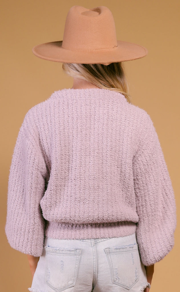 show me your mumu: clemmie cardigan - lilac knit