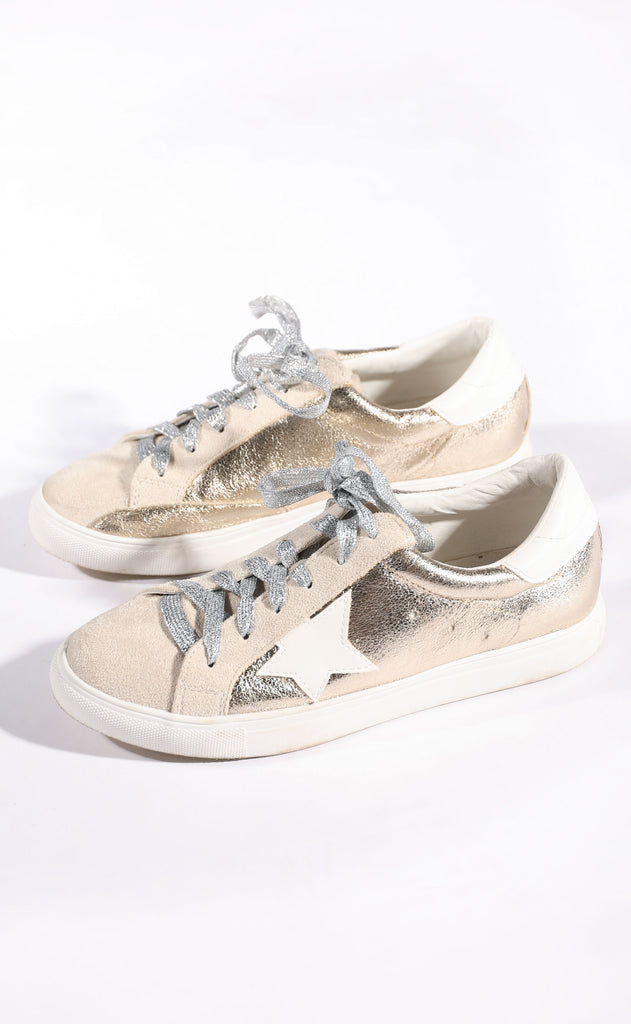 walk of fame sneaker - gold metallic