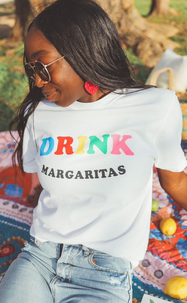 friday + saturday: drink margaritas t shirt
