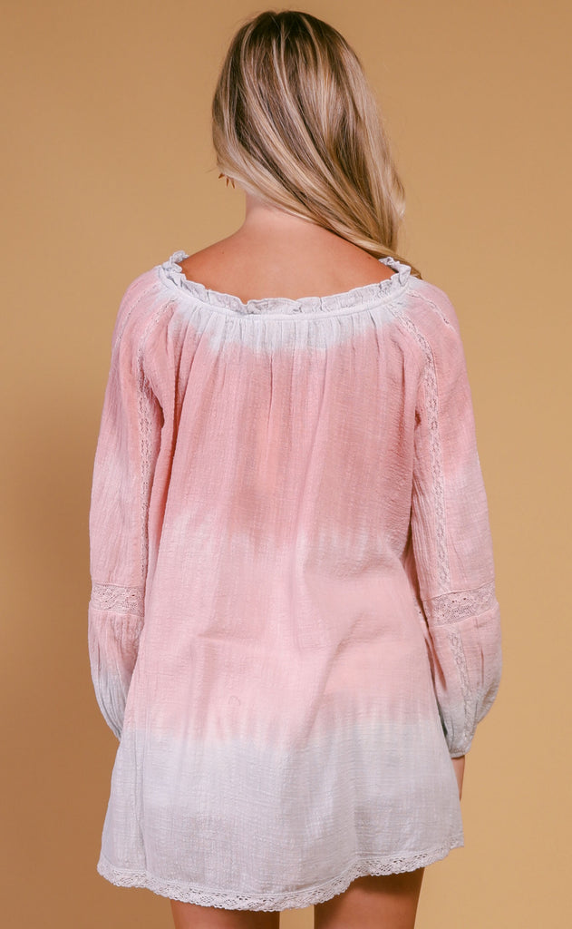chill out tie dye blouse