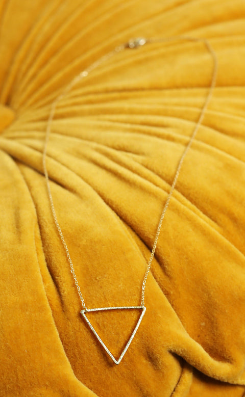 love triangle necklace - gold