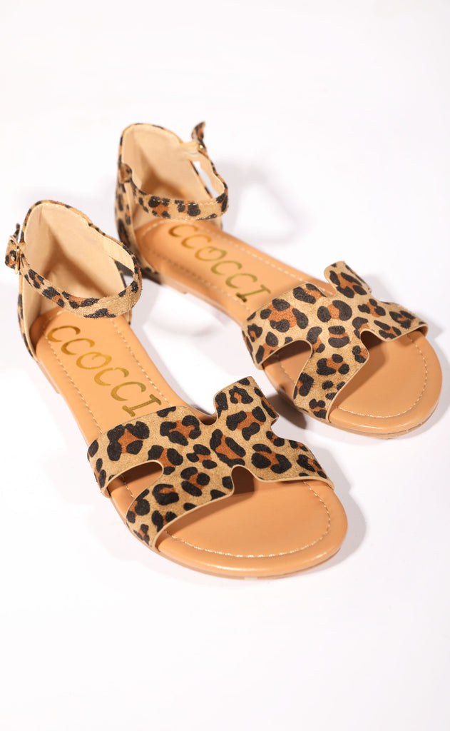 one step ahead strappy sandal - leopard