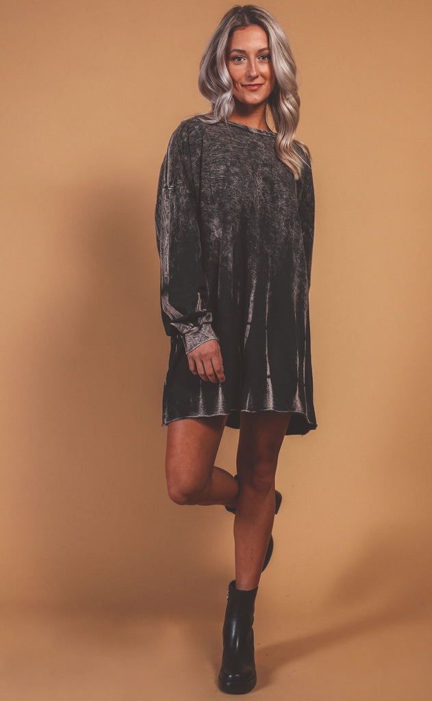 gotta run bleached sweatshirt dress