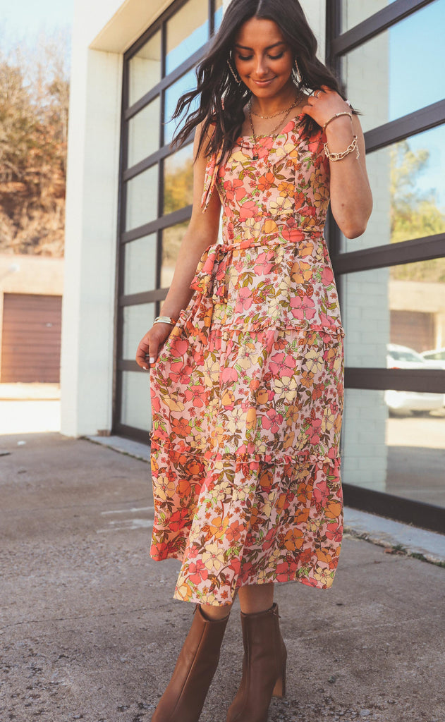 show me your mumu: toluca midi dress - pretty poppy