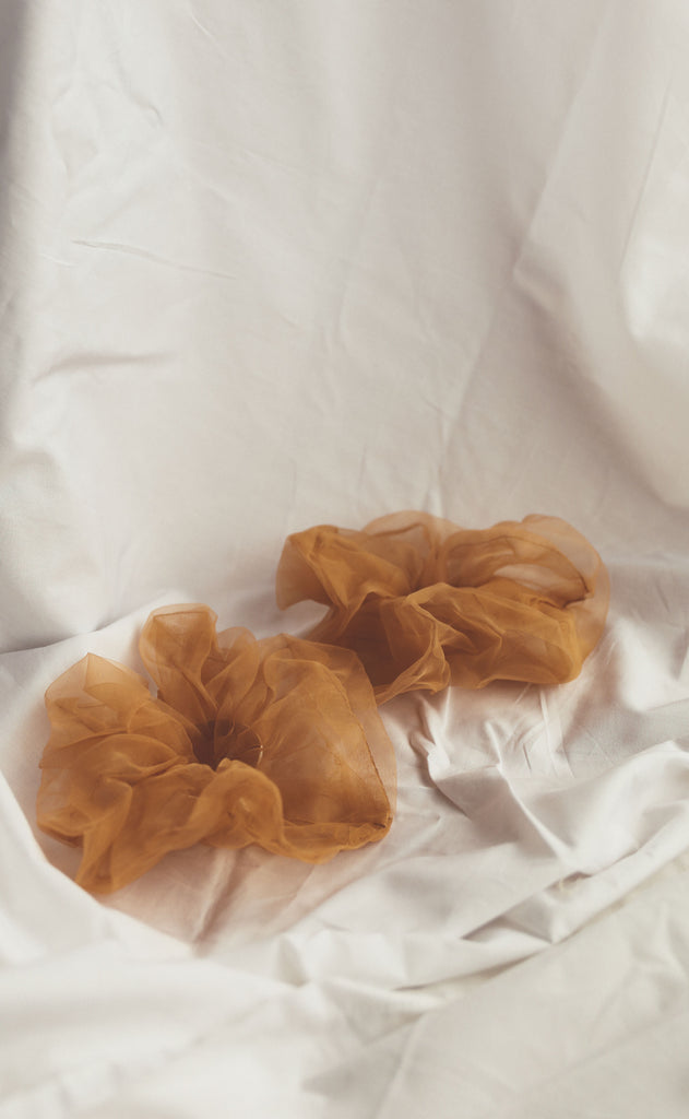 zelda scrunchie set - light coffee