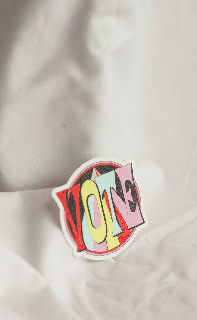 colorful vote sticker