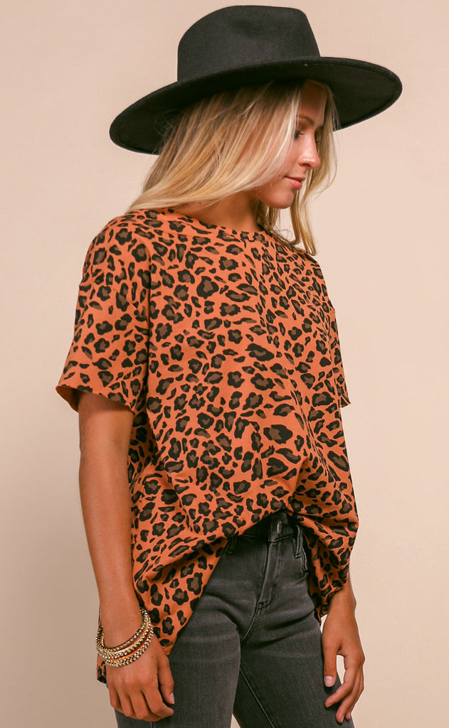 natural instincts leopard tee