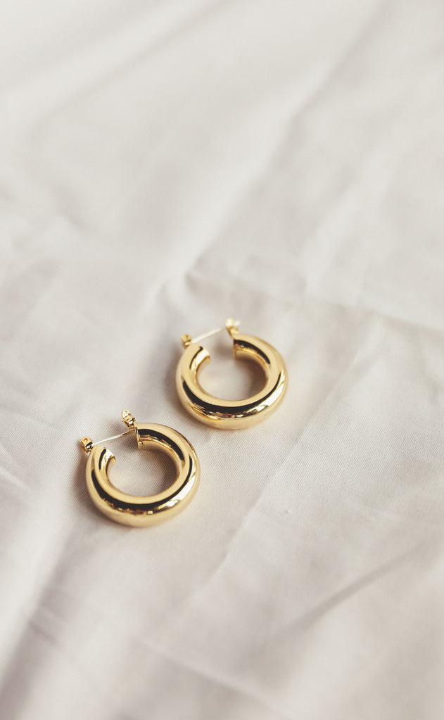 denise hoop earrings - small