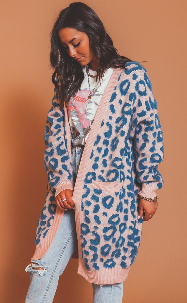wild thing leopard cardigan