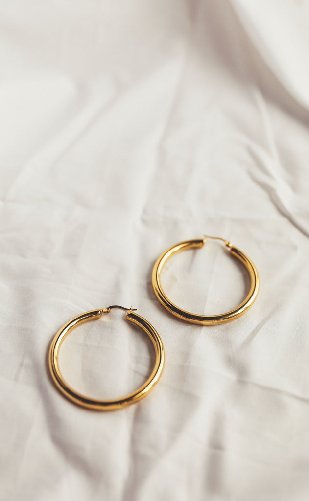 denise hoop earrings - large