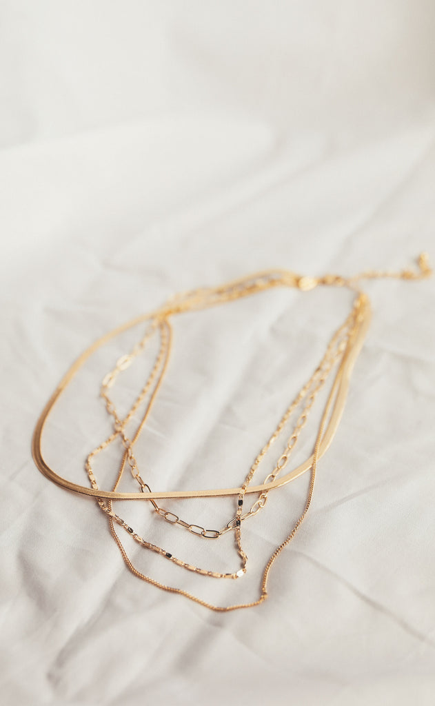 gold dipped layered chain