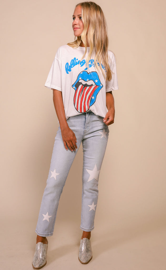 daydreamer: boyfriend tee - rolling stones stars and stripes