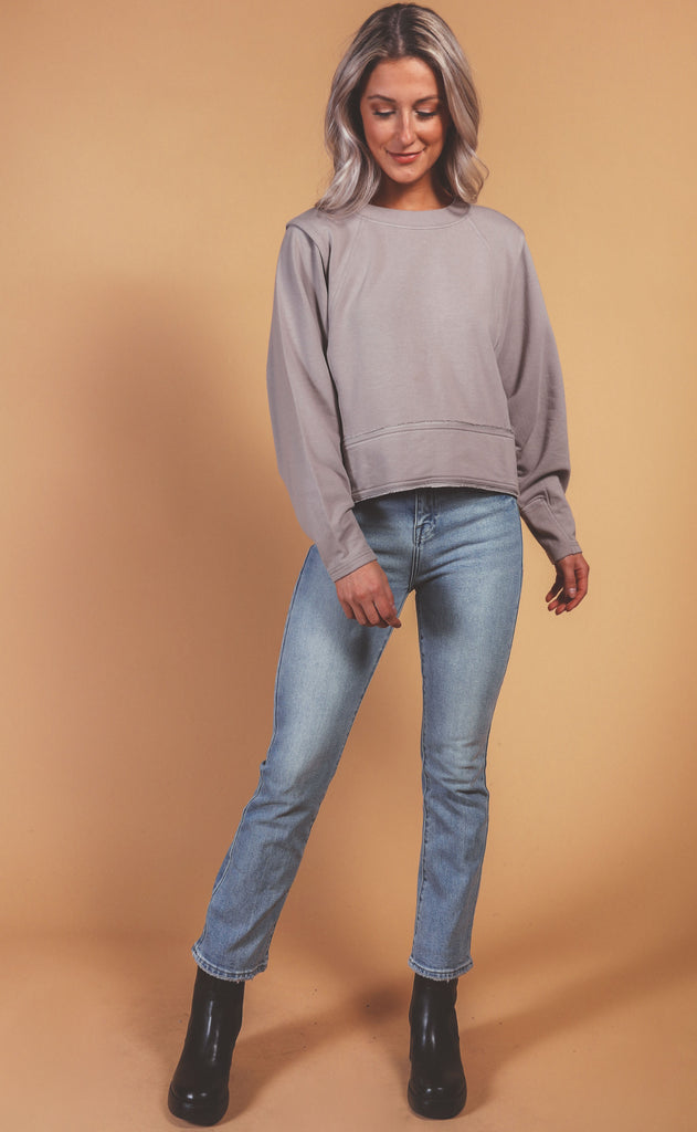 free people movement: where the wind blows sweatshirt - cashmere