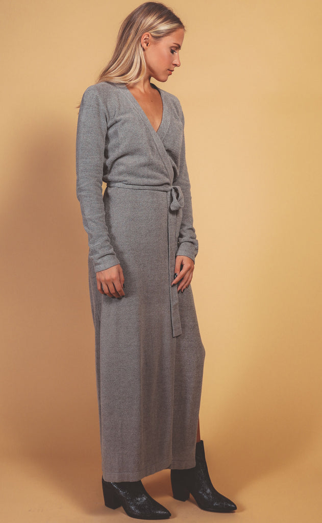 barefoot dreams: cozychic ultra lite wrap dress - loden