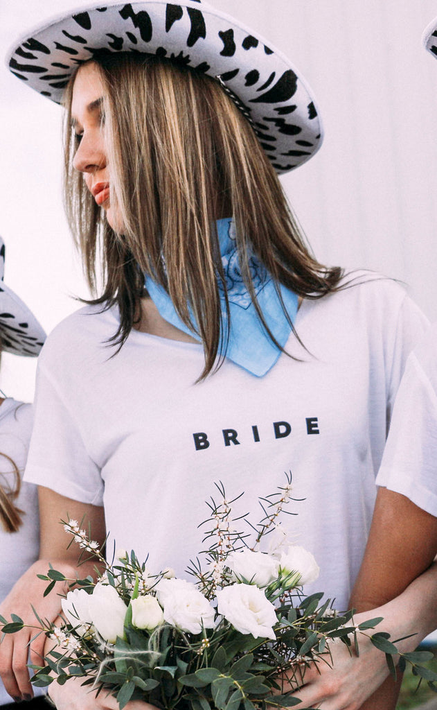 friday + saturday: bride // getting hitched t shirt