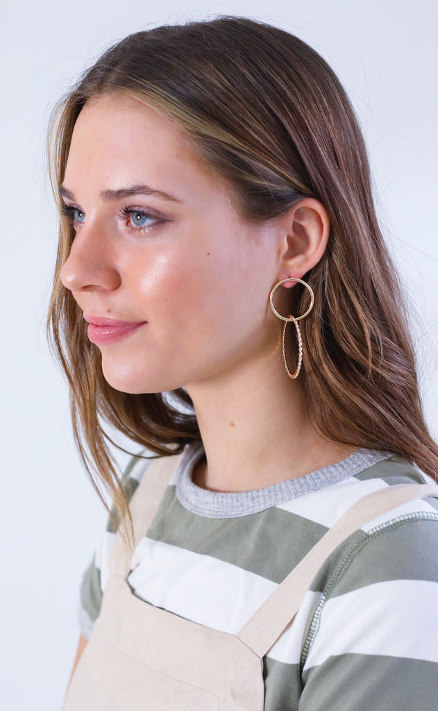 double duty hoop earrings
