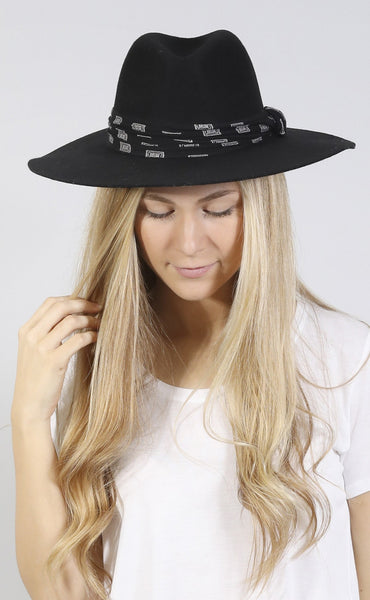 amuse society: hayworth hat - black