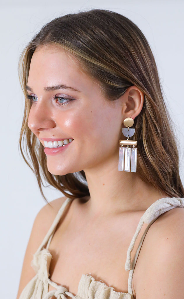 shell island statement earrings