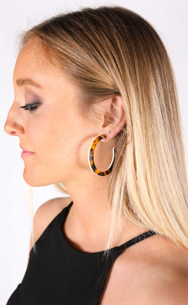 double layer hoop earrings