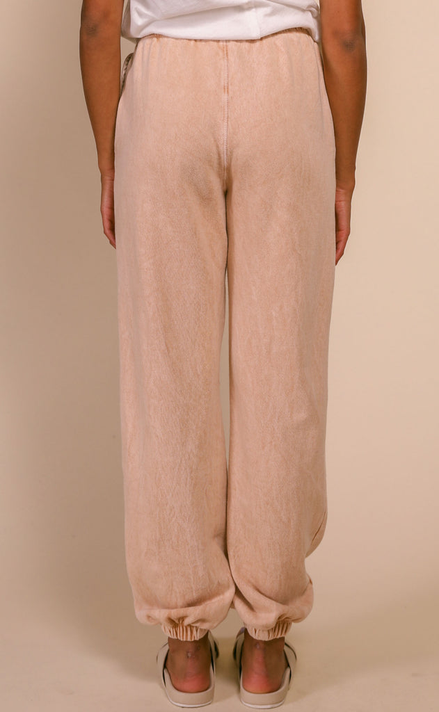 chilled out terry joggers - tan