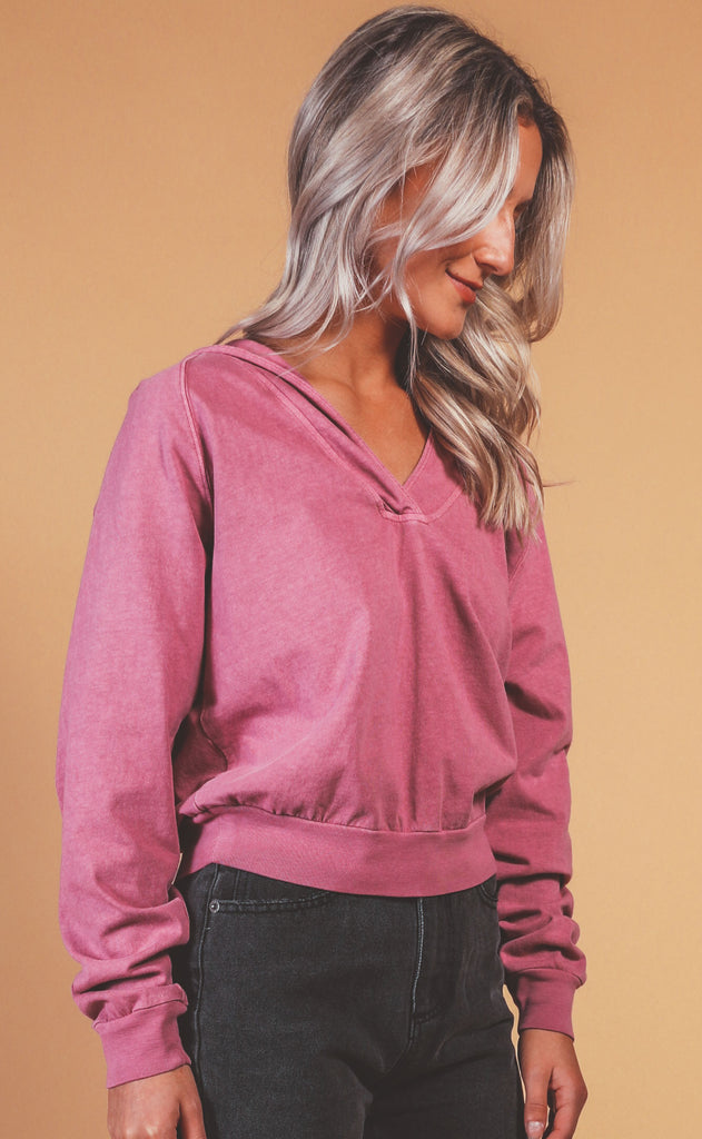 free people movement: apres ski hoodie - very berry