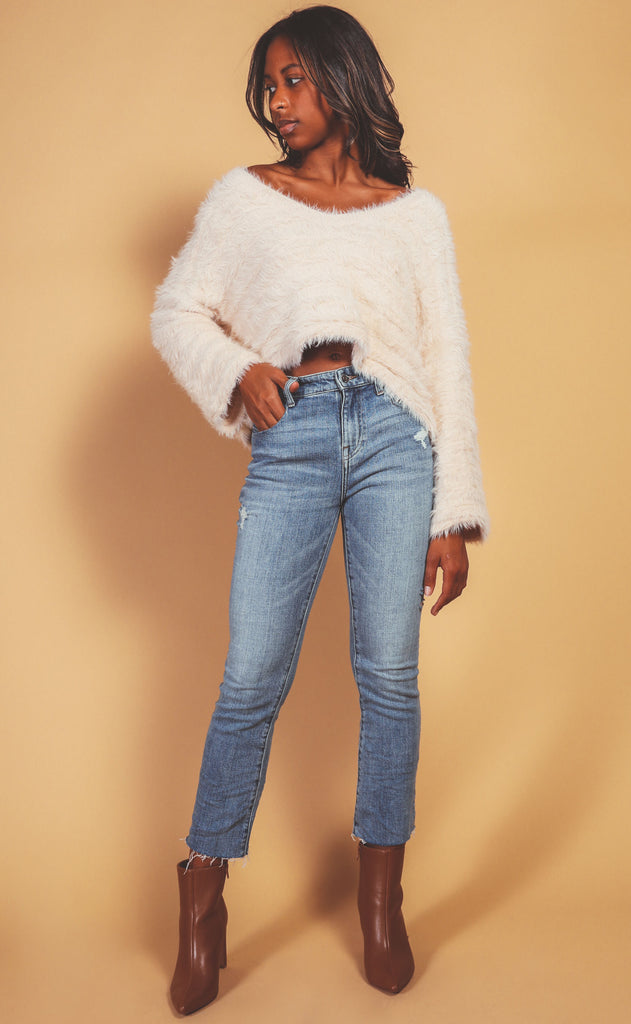 cozy in here crop sweater