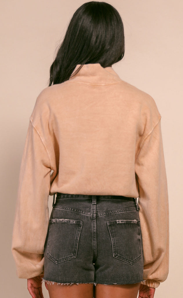 chilled out terry sweatshirt - tan