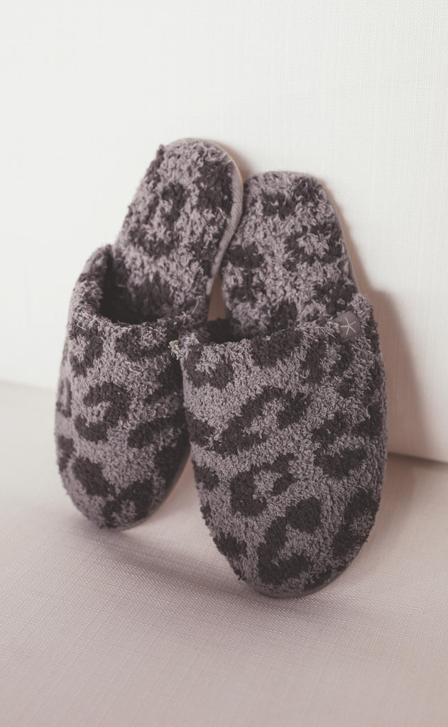 barefoot dreams: cozychic barefoot in the wild slipper - graphite/carbon
