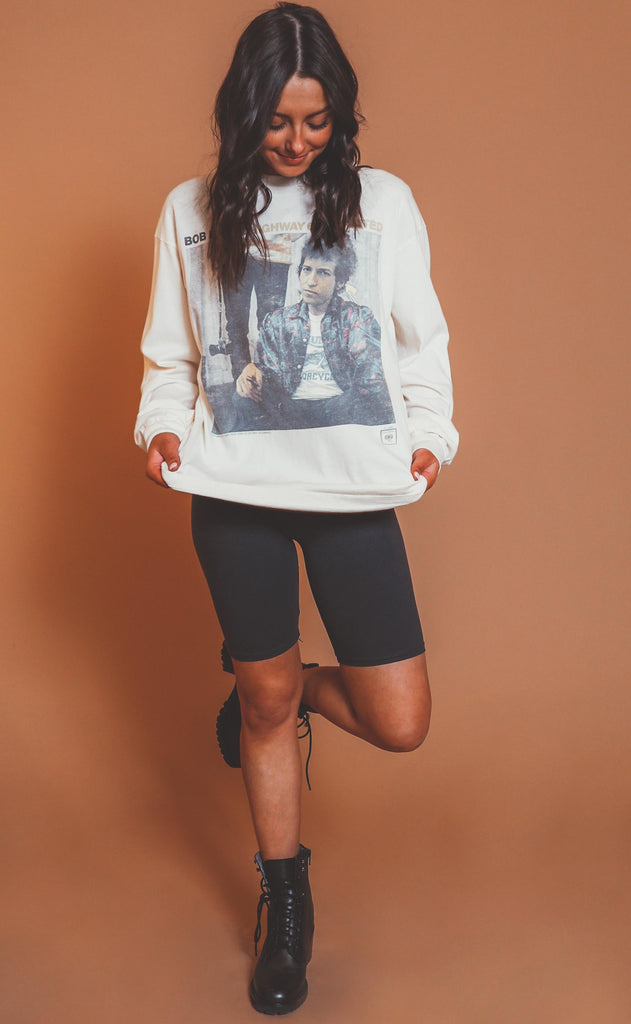 daydreamer: bob dylan highway 61 oversized long sleeve