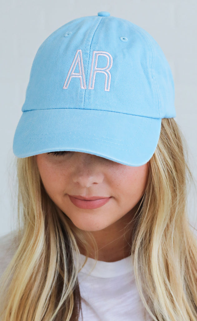 charlie southern: retro state hat - arkansas [turquoise]