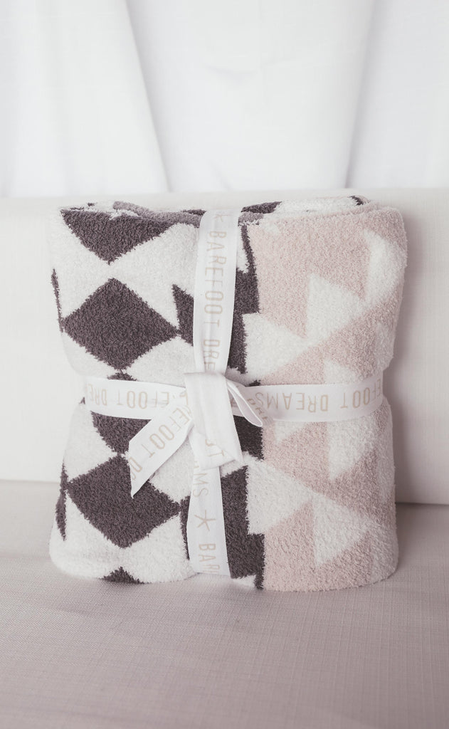 barefoot dreams: cozychic bonfire blanket - natural multi