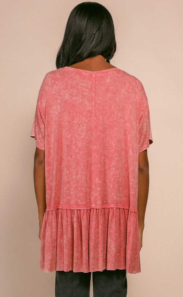 mineral washed babydoll top